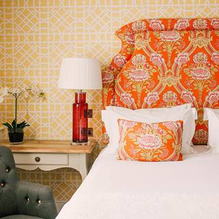 Orange and yellow bedroom